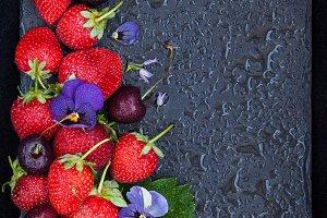 Fresh summer ripe berries