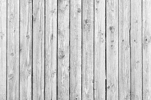 Old white weathered wood texture