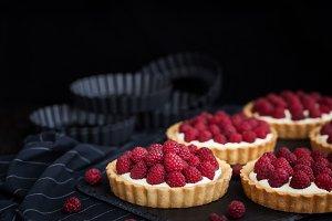 Delicious raspberry tarts