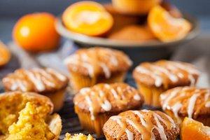 Carrot tangerine cupcakes