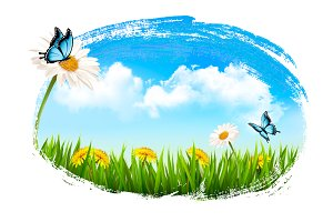 Spring nature background