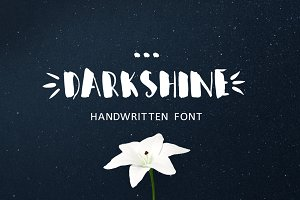 Darkshine Brush Font. Script.