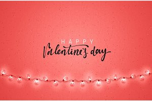 Happy Valentines Day. Greeting Cards holiday.