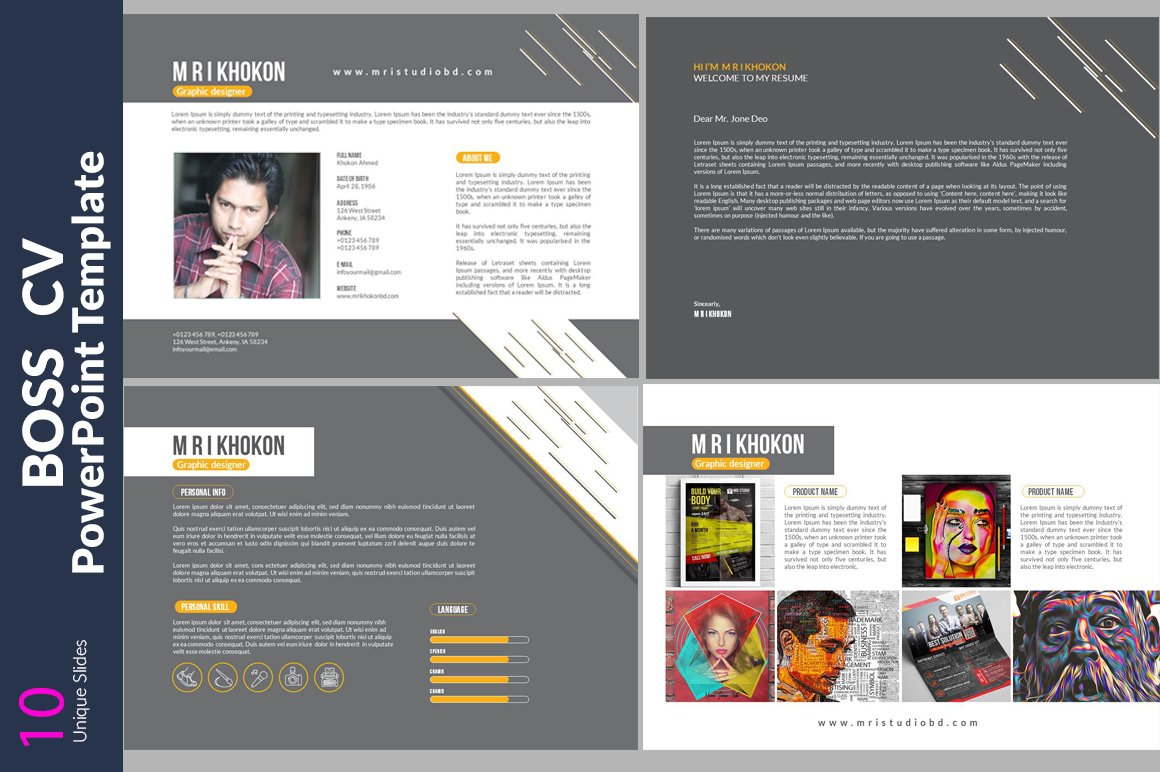 fitzroy fully editable powerpoint resume resume powerpoint