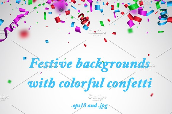 Backgrounds With Colorful Confetti