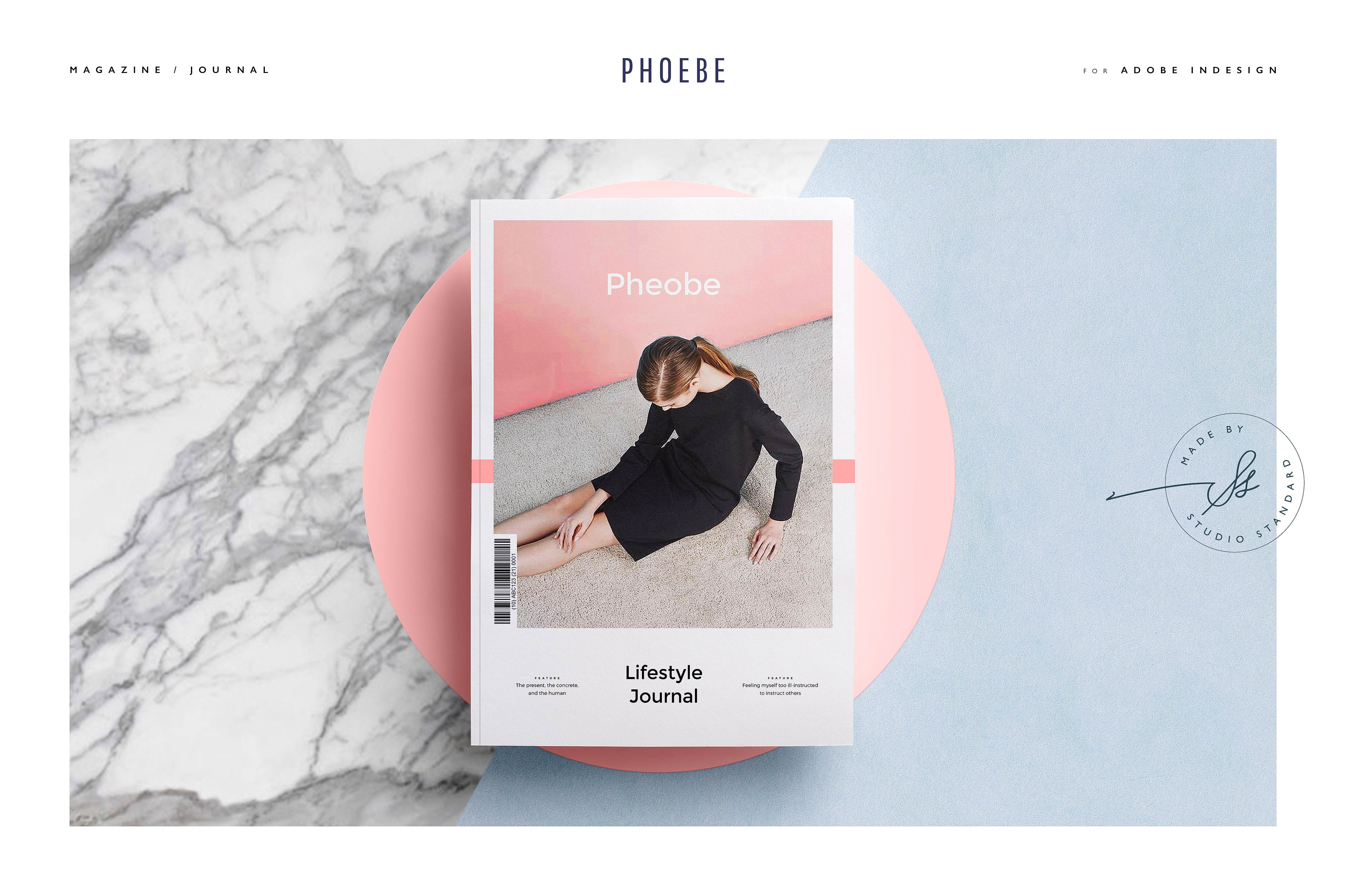 Phoebe magazine magazine templates creative market for Free architecture magazines