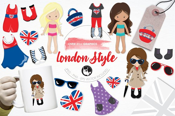 London Style Illustration Pack
