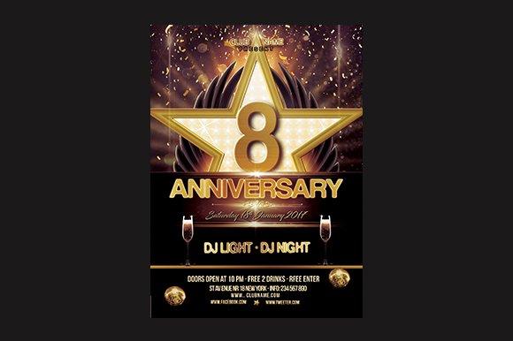 Anniversary Flyer Flyer Templates on Creative Market – Anniversary Flyer