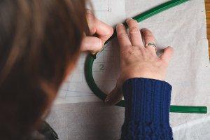Seamstress drawing template