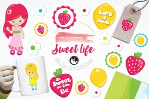 Sweet life illustration pack