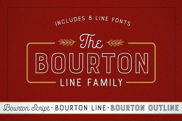 Best Bourton Line Family Vector
