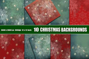 Christmas tree scrapbook background