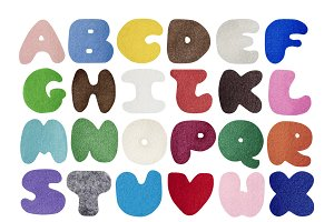 Colorful felt alphabet