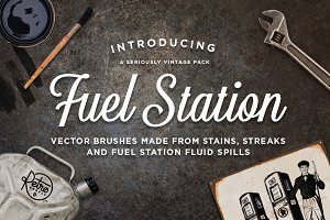 Fuel Station | Vector Grime Brushes