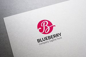 Blueberry Letter B Logo