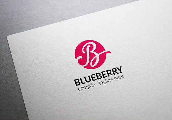 Blueberry Letter B Logo