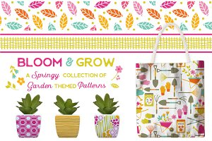 Bloom and Grow Vector Patterns