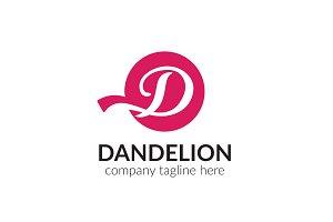 Dandelion Letter D Logo