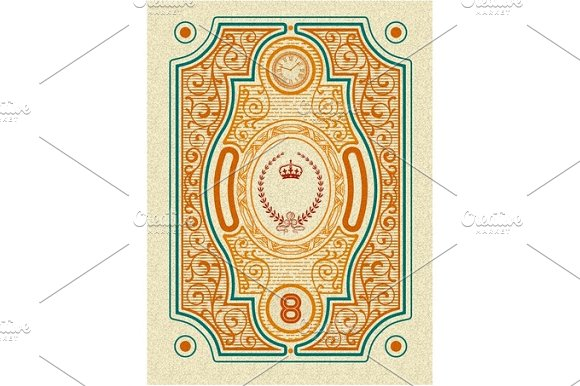 Floral card with heraldic and  royal details