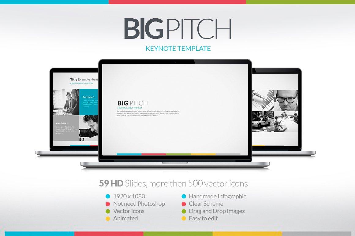 Big Pitch Keynote Presentation Presentation Templates Creative