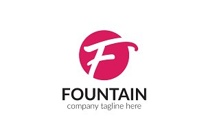 Fountain Letter F Logo
