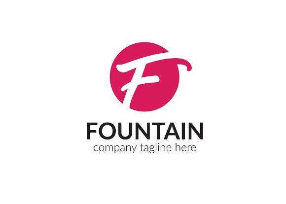Fountain Letter F Logo
