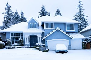 Family Home during winter