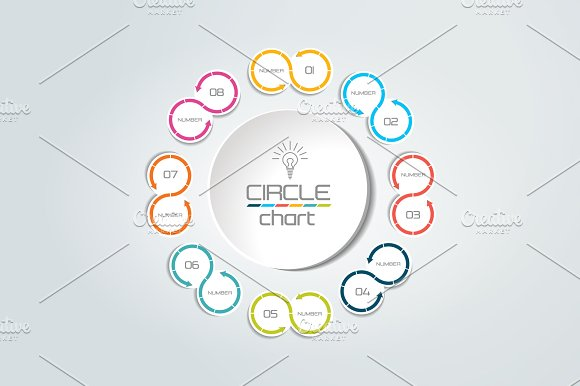 8 steps connected circle