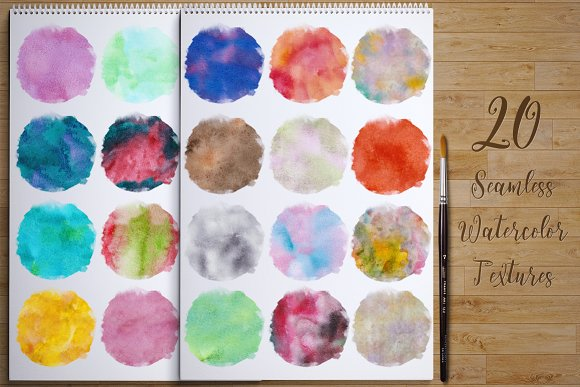 60%Off Watercolor Kit + Free Brushes in Illustrations - product preview 3