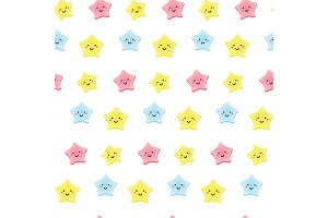 Kawaii stars pattern. eps