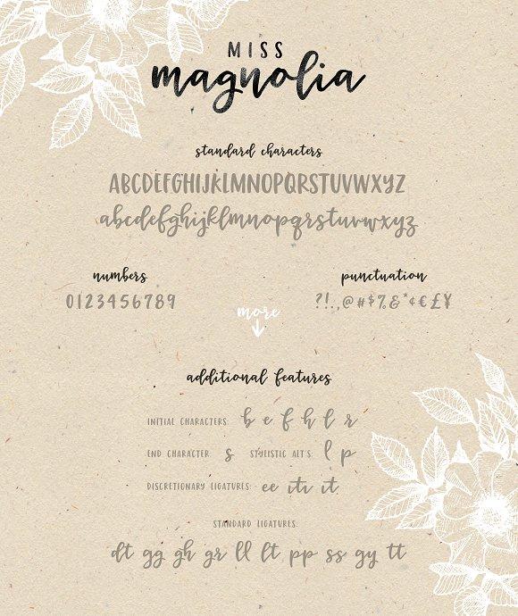 magnolia script font