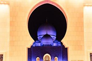 Framed Abu Dhabi Grand Mosque