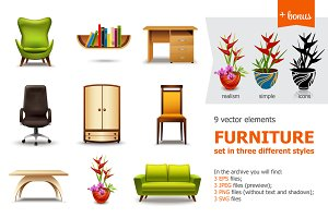 Furniture and Interior Set