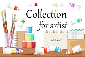 Vector collection for artist