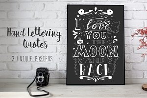Hand Lettering Romantic Quotes