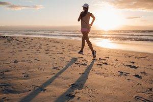 Healthy female running