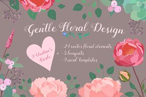 SALE! Gentle Floral Design