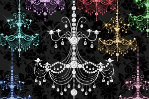 Crystal Chandeliers Clipart