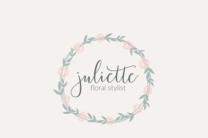Watercolor Floral Custom Logo