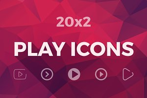 Play Button Icon Set