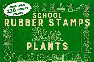 RUBBER STAMPS : PLANTS + 2 BONUS
