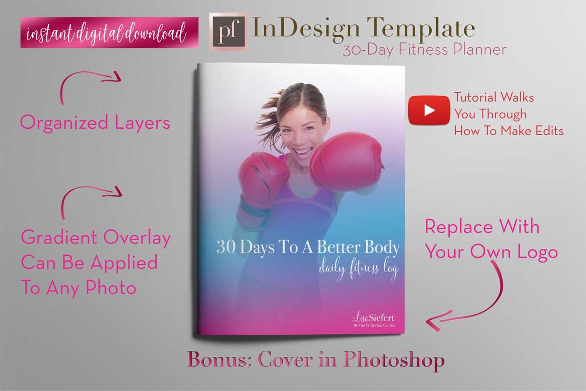 Fitness Planner   InDesign Template ~ Templates ~ Creative Market