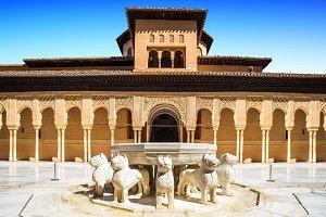Lion Fountain, Alhambra, Granada