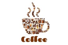 Coffee cup poster for drink and food theme design