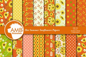 Sunflower Digital Papers AMB-1433