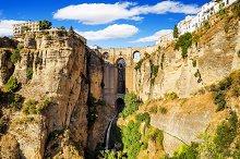 Bridge of Ronda, Malaga, Spain.