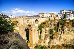Bridge of Ronda, Malaga, Spain.