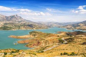 Reservoir of Zahara de la Sierra