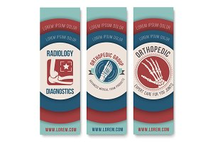 Orthopedics and radiology banner template set