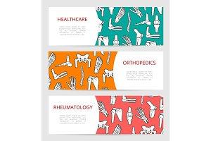 Orthopedics, rheumatology clinic banner template